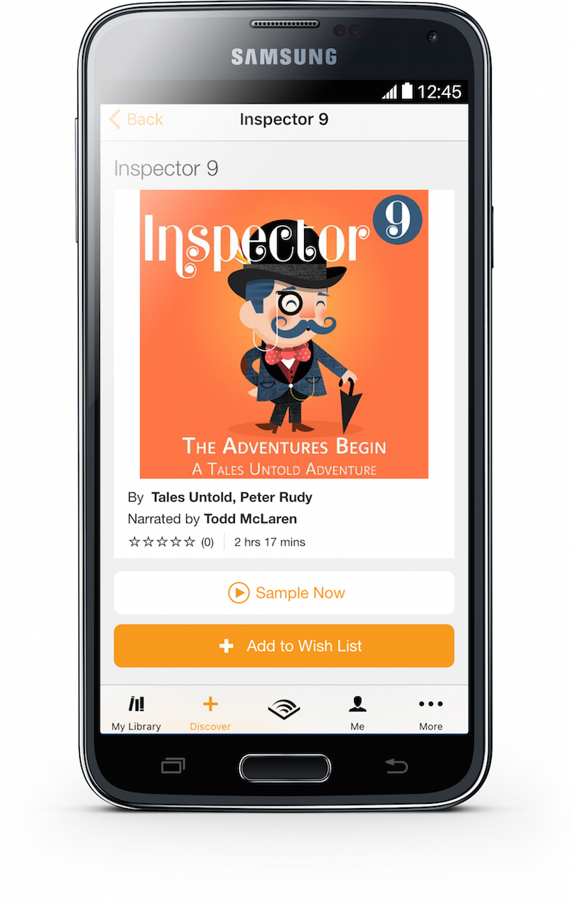 Inspector 9 on Audible